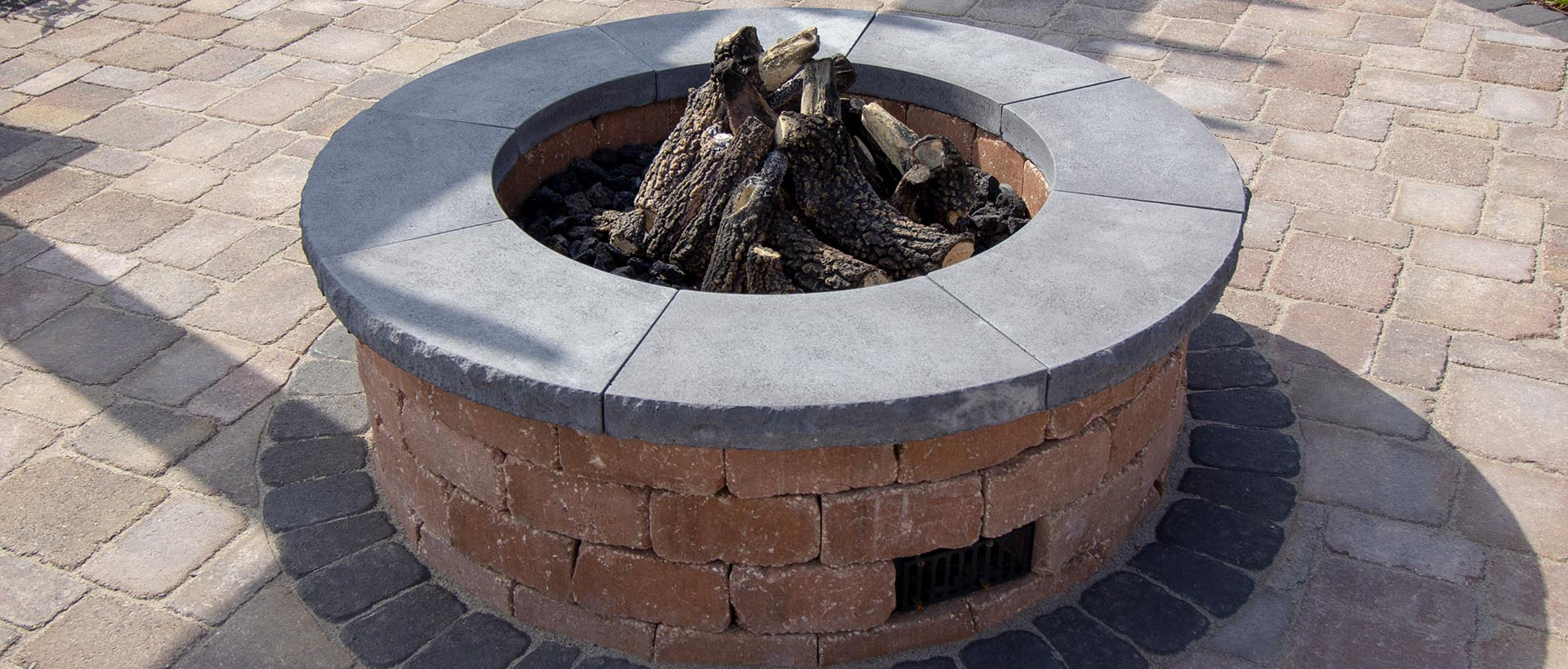 Grand Gas Fire Ring The Rock Place