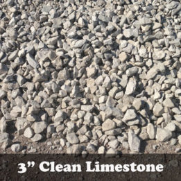 "3"" Clean Limestone Gravel for drainage-Omaha-Elkhorn-Limestone-Clean-Crushed-Drainage"