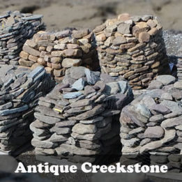 Antique Creekstone-Edging-Omaha-Elkhorn-Stone-Border-Brown-Smooth