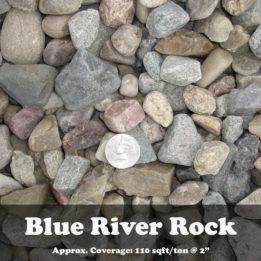 Blue River Rock, ground cover, landscaping, omaha, elkhorn, multicolor, decorative