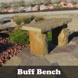 Natural stone Buff Garden bench