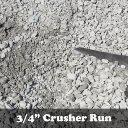 """3/4"""" minus crushed limestone gravel for driveway or base material"""