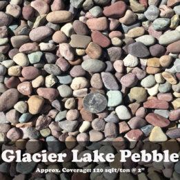 Glacier Lake Pebble, ground cover, landscaping, omaha, elkhorn, multicolor, decorative