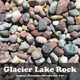 Glacier lake rock, ground cover, landscaping, omaha, elkhorn, multicolor, decorative