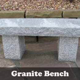 Natural stone Granite Garden bench