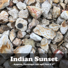 Indian Sunset, Decorative, Omaha, elkhorn, landscaping, Rock, multicolor, ground cover