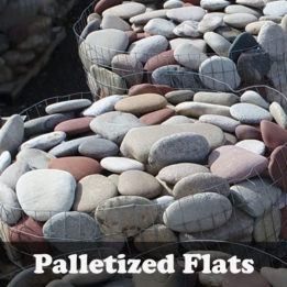 Palletized Flats-River-Elkhorn-Omaha-Cobbles-edging-decorative-smooth-multicolor
