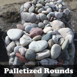 Palletized Rounds-River-Elkhorn-Omaha-Cobbles-edging-decorative-smooth-multicolor