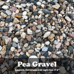 Pea Gravel, gravel, omaha rock, elkhorn rock, landscaping