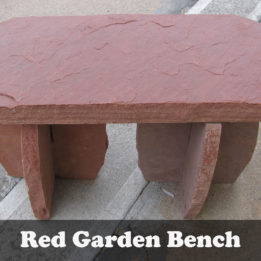 Natural stone Red Garden bench