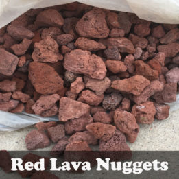 Lava Rock-Red-Bagged-Omaha-Elkhorn-Fire pit-Gas