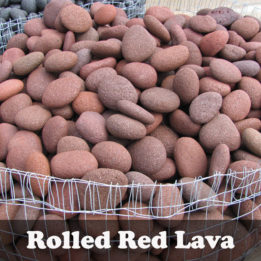 Rolled Lava Rock-Red-Smooth-Bagged-Omaha-Elkhorn-Fire pit-Gas
