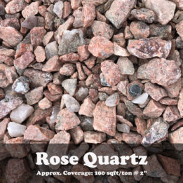 Rose Quartz, decorative rock, omaha rock, elkhorn rock, groundcover, rock