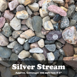 Silver Stream, River Rock, Rock, omaha rock, elkhorn river rock, landscaping rock