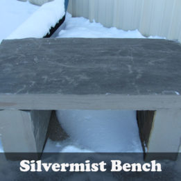 Natural Stone Silvermist Grey Garden Bench