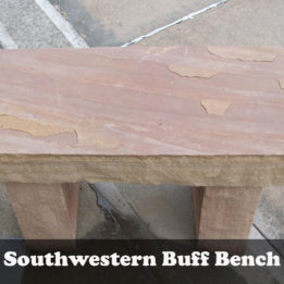 Natural stone Southwest Garden bench