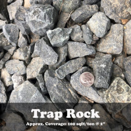 Trap Rock, Black rock, Omaha rock, elkhorn rock, landscaping, decorative rock