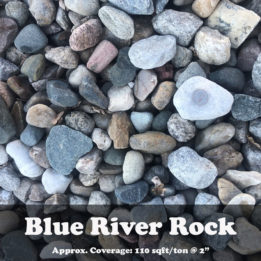 Blue River Rock, ground cover, landscaping, omaha, elkhorn, multicolor, decorative