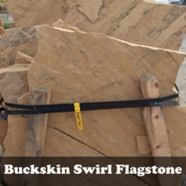 Buckskin Swirl Flagstone-Tan-Brown-Omaha-Elkhorn-NE-Natural-Stone-Stepping-Pathway-Patio