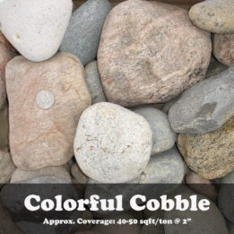 Colorful Cobble, Big, Smooth, River, elkhorn, omaha, border, landscaping, decorative