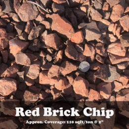 Red Brick Chips, elkhorn, omaha, rock, decorative, landscaping