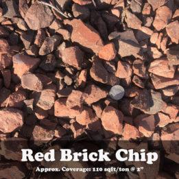 Red Brick Chips, elkhorn, omaha, rock, decorative, landscaping