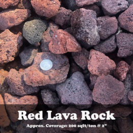 Red Lava Rock, Elkhorn, Omaha, Decorative, landscaping, fire pit