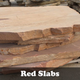 Red Slab-Omaha-Elkhorn-NE-Natural-Steps-Irregular-Thick