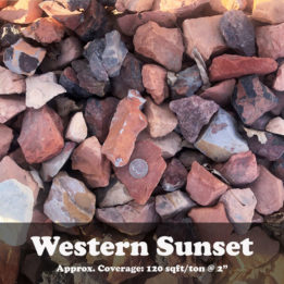 Western Sunset, Rock, elkhorn, omaha, pink, red, decorative, multicolor, landscaping