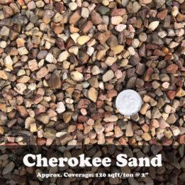 Cherokee Sand, Elkhorn, Omaha, Rock, Multicolor, Tan, Red, Decorative