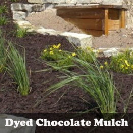 Mulch-omaha-elkhorn-NE-dyed-chocolate-hardwood-shredded-landscaping