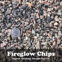 Fireglow Chips, Elkhorn, Omaha, Rock, Multicolor, Pink, Grey, Decorative