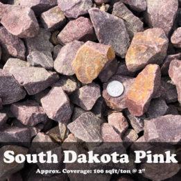 South Dakota Pink, Elkhorn, Omaha, Rock, Multicolor, Pink, Decorative
