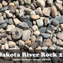 2 Inch River Rock- Omaha-Elkhorn-Nebraska-Ground-Cover-Decorative-Landscape-Dakota
